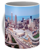 Aerial View Of Jacobs Field, Cleveland Coffee Mug