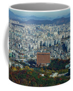 Aerial View Of Seoul South Korea Coffee Mug
