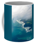 Aerial View Of Tasman Sea Shore Nz North Island Coffee Mug