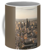 Aerial View Of The Seattle Skyline With Stadiums Coffee Mug