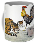 Aesop: Cat, Cock, And Mouse Coffee Mug