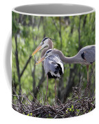 Affectionate Great Blue Heron Mates Coffee Mug