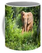 African Elephant Coming Through Trees Coffee Mug