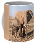 African Elephant Mother And Calf Coffee Mug