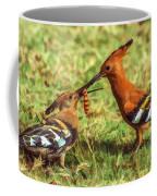 African Hoopoe Feeding Chick Coffee Mug