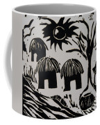 African Huts White Coffee Mug