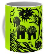 African Huts Yellow Coffee Mug by Caroline Street