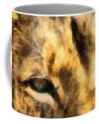 African Lion Eyes Coffee Mug
