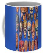 African Tribal Masks In Sidi Bou Said Coffee Mug