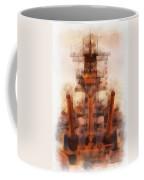 Aft Turret 3 Sun Down Uss Iowa Battleship Photo Art 01 Coffee Mug