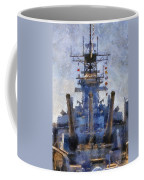 Aft Turret 3 Uss Iowa Battleship Photoart 02 Coffee Mug