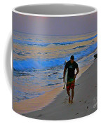 After A Long Day Of Surfing Coffee Mug by John Malone
