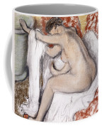 After The Bath Woman Drying Herself Coffee Mug