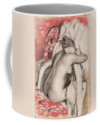 After The Bath.seated Woman Drying Herself Coffee Mug