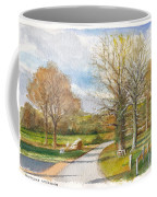 Afternoon In The Auvergne Countryside In Central France Coffee Mug