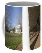 Afternoon Shadows Spread Across The Dorms Rooms Along The Lawn Coffee Mug