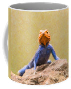 Agama Lizard On Rock Coffee Mug