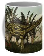 Agustinia Dinosaur Walking Amongst Coffee Mug