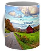 Ah...west Virginia Painted Coffee Mug