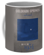 Air Force Falcons Colorado Springs Colorado College Town State Map Poster Series No 006 Coffee Mug
