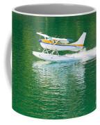 Aircraft Seaplane Taking Off On Calm Water Of Lake Coffee Mug