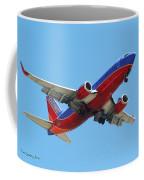 Airliner Landing At Sky Harbor Phoenix Arizona Coffee Mug