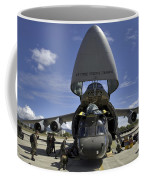 Airmen And Soldiers Load A Ch-47 Coffee Mug