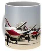 Airmen Conduct Preflight Preparations Coffee Mug by Stocktrek Images