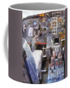 Airplane Cockpit Photo Art Coffee Mug