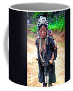 Akha Tribe Paint Filter Coffee Mug