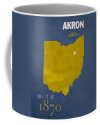 Akron Zips Ohio College Town State Map Poster Series No 007 Coffee Mug