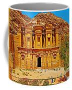 Al-dayr Or The Monastery In Petra-jordan  Coffee Mug