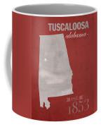 Alabama Crimson Tide Tuscaloosa College Town State Map Poster Series No 008 Coffee Mug