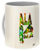 Alabama Typographic Watercolor Map Coffee Mug