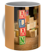 Alan - Alphabet Blocks Coffee Mug