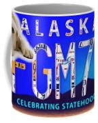 Alaska License Plate Coffee Mug