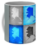 Alaska Map Art Coffee Mug