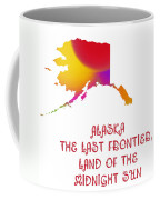 Alaska State Map Collection 2 Coffee Mug
