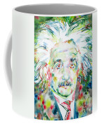 Albert Einstein Watercolor Portrait.1 Coffee Mug