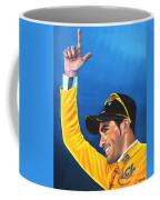 Alberto Contador Coffee Mug by Paul Meijering