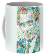 Aldous Huxley - Watercolor Portrait Coffee Mug