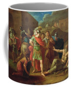Alexander The Great Visits Diogenes At Corinth, 1787 Oil On Canvas Coffee Mug