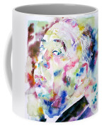 Alfred Hitchcock Watercolor Portrait.1 Coffee Mug