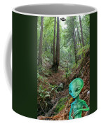 Alien In Redwood Forest Coffee Mug