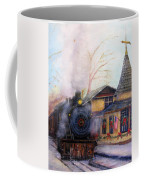 All Aboard At The New Hope Train Station Coffee Mug