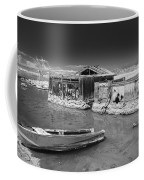 All Aboard Black And White Coffee Mug