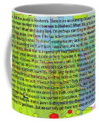 all the writing belongs to Hashem Coffee Mug by David Baruch Wolk