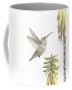 Allen's Hummingbird And Aloe Coffee Mug