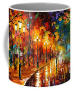 Alley Of The Memories - Palette Knife Oil Painting On Canvas By Leonid Afremov Coffee Mug