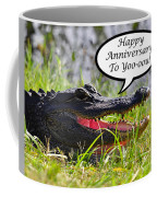 Alligator Anniversary Card Coffee Mug